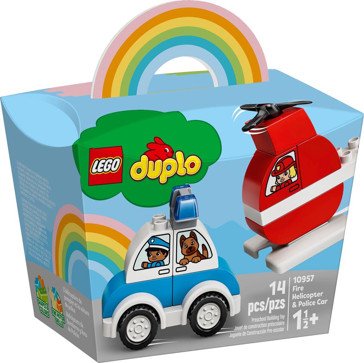 LEGO 10957 ELICOTTERO ANTINCENDIO E AUTO DELLA POLIZIA DUPLO