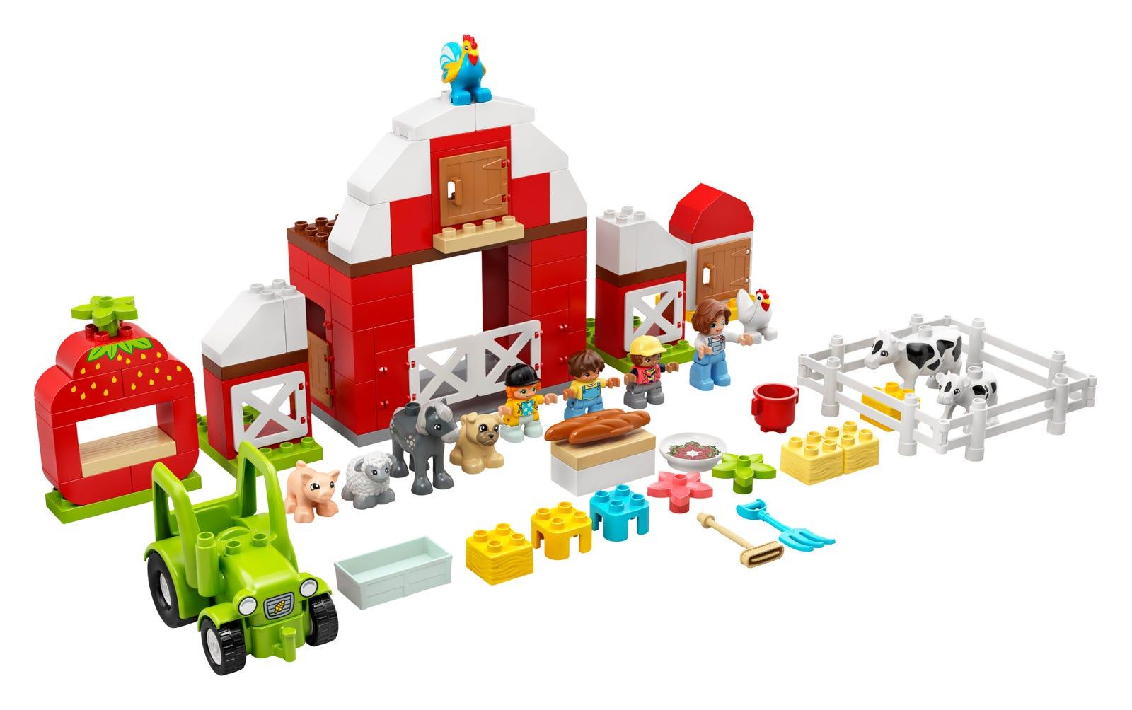 LEGO 10952 FATTORIA CON FIENILE, TRATTORE E ANIMALI DUPLO