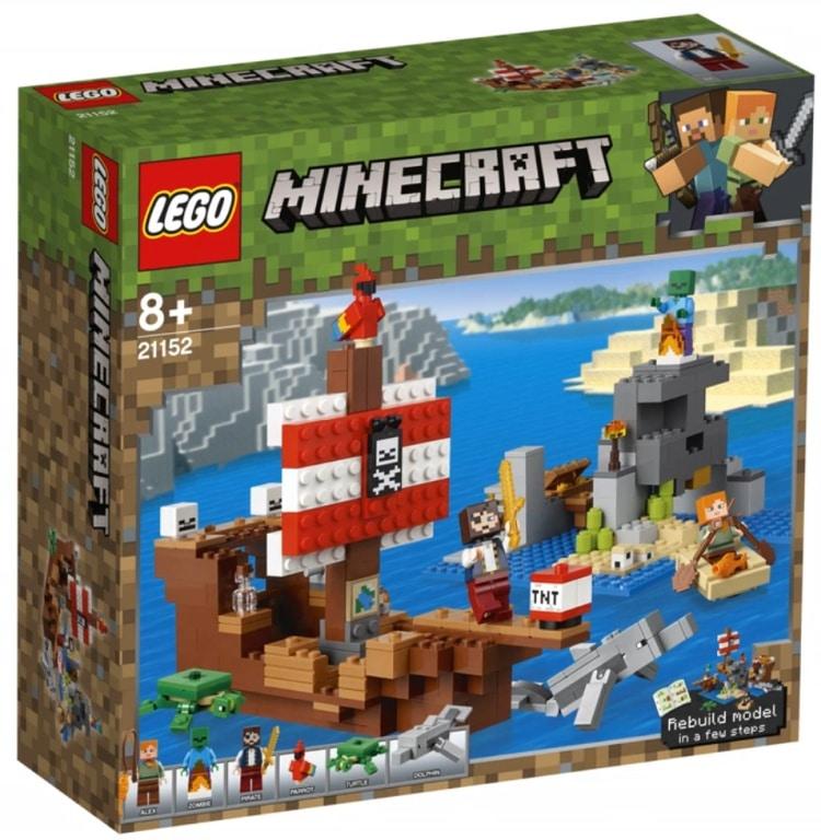 LEGO 21152 AVVENTURA SUL GALEONE DEI PIRATI MINECRAFT