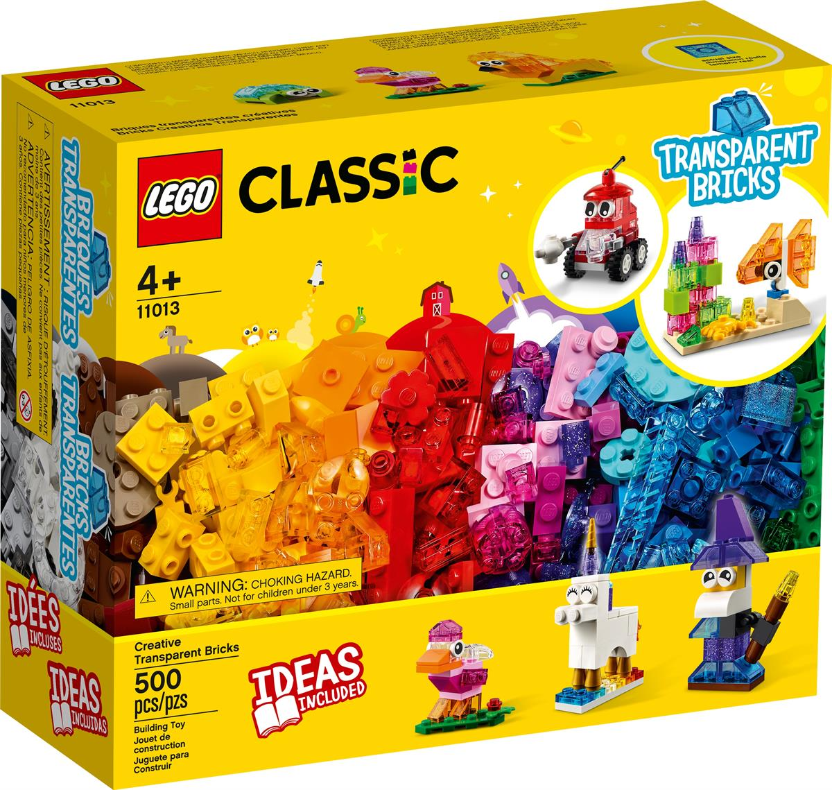 LEGO 11013 MATTONCINI TRASPARENTI CREATIVI CLASSIC
