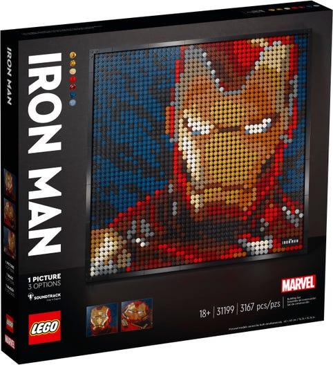 LEGO 31199 IRON MAN MARVEL STUDIOS ART