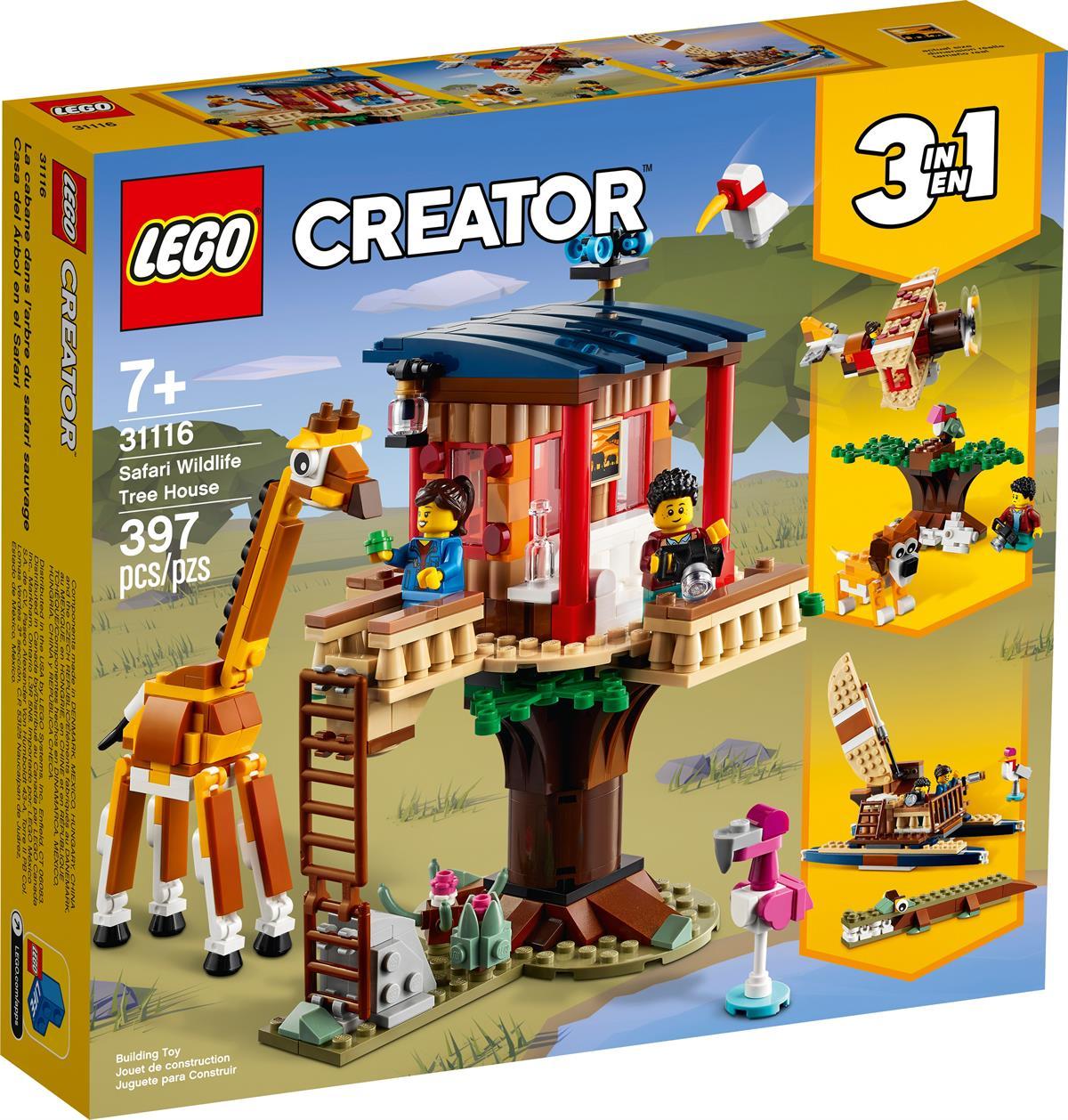 LEGO 31116 CASA SULL'ALBERO DEL SAFARI CREATOR