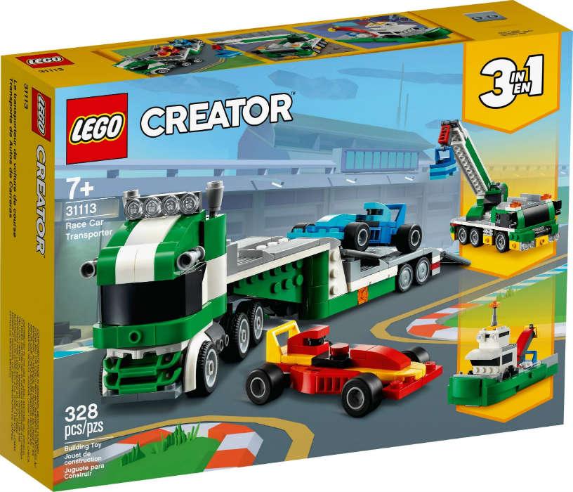 LEGO 31113 TRASPORTATORE DI AUTO DA CORSA CREATOR