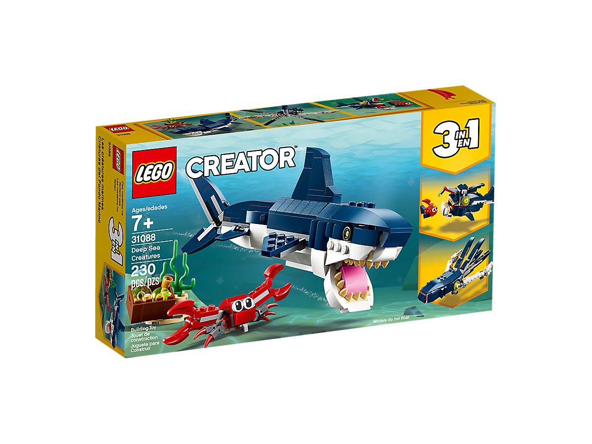 LEGO 31088 CREATURE DEGLI ABISSI CREATOR