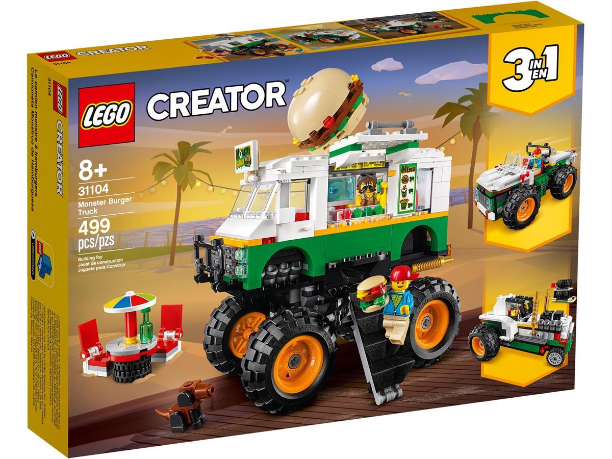 LEGO 31104 MONSTER TRUCK DEGLI  HAMBURGER CREATOR