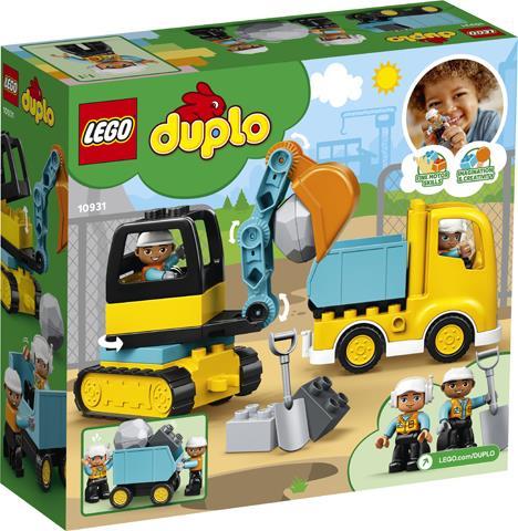 LEGO 10931 CAMION E SCAVATRICE CINGOLATA DUPLO